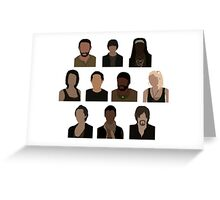 The Walking Dead Cast - Minimalist style Greeting Card