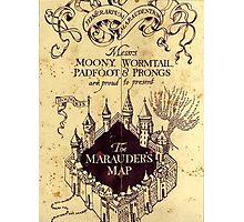 Harry potter castle, The Marauders Map Photographic Print
