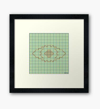 I See You (The Neon Eye) Framed Print