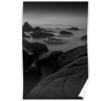 Dawn at Beer Barrell Beach - St Helens Poster