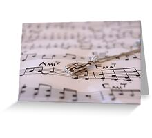 The love for music Greeting Card