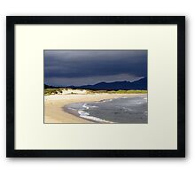 The moving sea Framed Print
