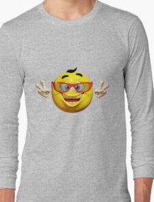 Happy Emoticon Long Sleeve T-Shirt