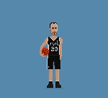 Manu Ginóbili - Spurs by pixelfaces