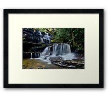 Cascading Somersby Falls Framed Print