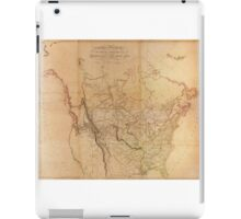 Map of the Explored Parts of North America (1814) iPad Case/Skin
