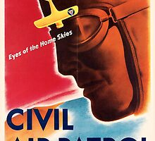 Civil Air Patrol ~ Vintage World War 2 WWII Poster ~ Air Force Pilot ~ 0536 by ContrastStudios