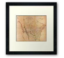 Map of the Explored Parts of North America (1814) Framed Print