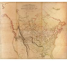Map of the Explored Parts of North America (1814) Photographic Print