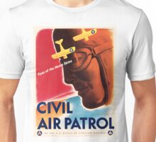Civil Air Patrol ~ Vintage World War 2 WWII Poster ~ Air Force Pilot ~ 0536 Unisex T-Shirt