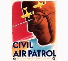 Civil Air Patrol ~ Vintage World War 2 WWII Poster ~ Air Force Pilot ~ 0536 T-Shirt