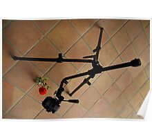 Tripod and tiles Poster