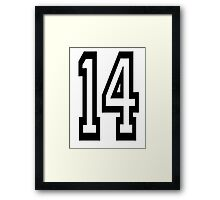 14, TEAM SPORTS, NUMBER 14, FOURTEEN, FOURTEENTH, Competition,  Framed Print