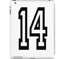 14, TEAM SPORTS, NUMBER 14, FOURTEEN, FOURTEENTH, Competition,  iPad Case/Skin