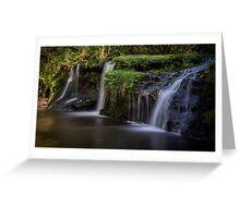 Black Devon Waterfalls Greeting Card