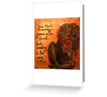 Marry Your Own Soul Greeting Card