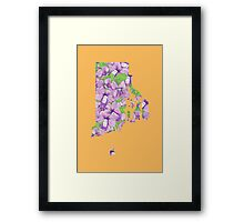 Rhode Island Flowers Framed Print