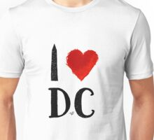 I Heart DC (remix) by Tai's Tees Unisex T-Shirt