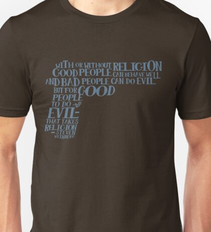 STEVEN WEINBERG quote-cloud by Tai's Tees Unisex T-Shirt
