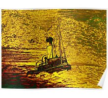 A Steam Tugboat in yellow Poster