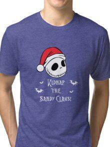 Nightmare Before Christmas - Sandy Claws v2.0 Tri-blend T-Shirt