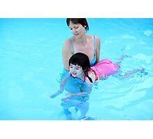 Swimming lesson Photographic Print