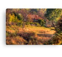 A Home among the Gum Trees - Hill End , NSW Australia - The HDR Experience Canvas Print