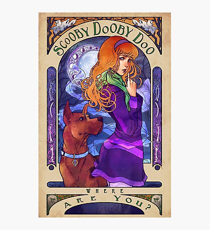 Scooby Dooby Mucha Photographic Print