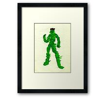 The Green Superhero Framed Print