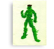 The Green Superhero Canvas Print
