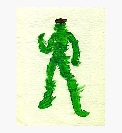 The Green Superhero Photographic Print
