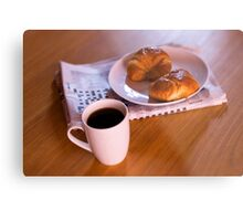 coffee and croissants Metal Print