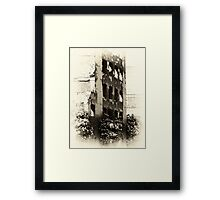 Collapsed Building  Framed Print