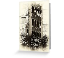 Collapsed Building  Greeting Card
