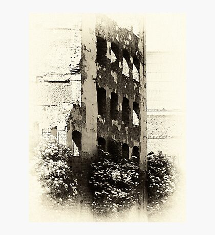 Collapsed Building  Photographic Print