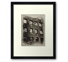 Collapsed Building II Framed Print