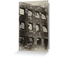 Collapsed Building II Greeting Card