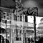 Cafe reflections by James  Kerr