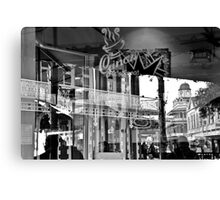 Cafe reflections Canvas Print