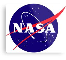 Official NASA (meatball) Logo Metal Print