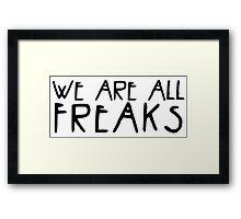 American Horror Story Freaks Framed Print