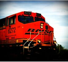 BNSF 6272 Heading South Through Marysville, Washington by Jeanne Marie King