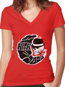 2High2Jazz Band Tee Women's Fitted V-Neck T-Shirt