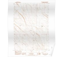 USGS Topo Map Oregon Poverty Basin South 281155 1984 24000 Poster