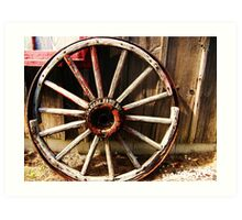 Wagon Wheel (Petrolia Discovery) Art Print