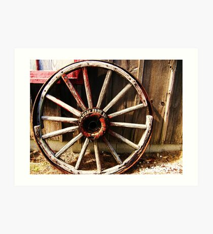 Wagon Wheel (Petrolia Discovery) Art Print