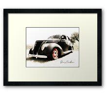 Hot 39 Ford Five Window Framed Print