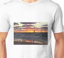 Sunset Manistee Michigan Style Unisex T-Shirt