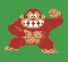 Donkey Kong 8 Bit Kids Tee