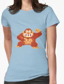 Donkey Kong 8 Bit Womens Fitted T-Shirt